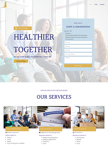 Website Troth and Co. designed by Pink Pepper Content